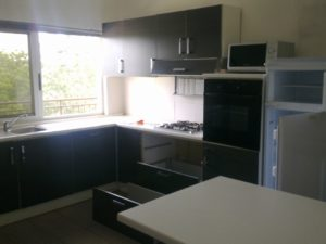 Fitted kitchen with built in appliances